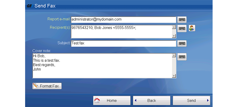 GFI FaxMaker - Composing Fax in eCopy Share Scan Connnector