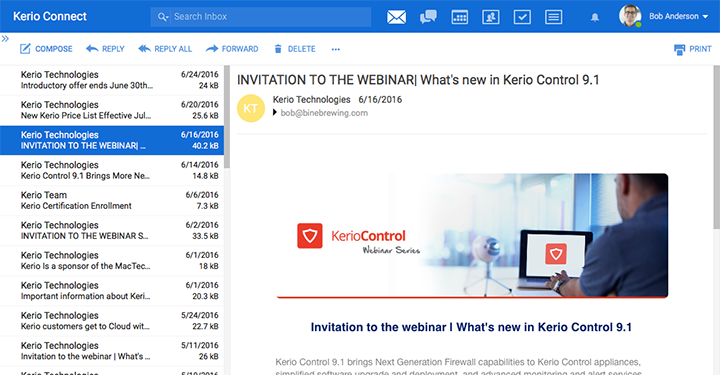 Kerio Connect - UI