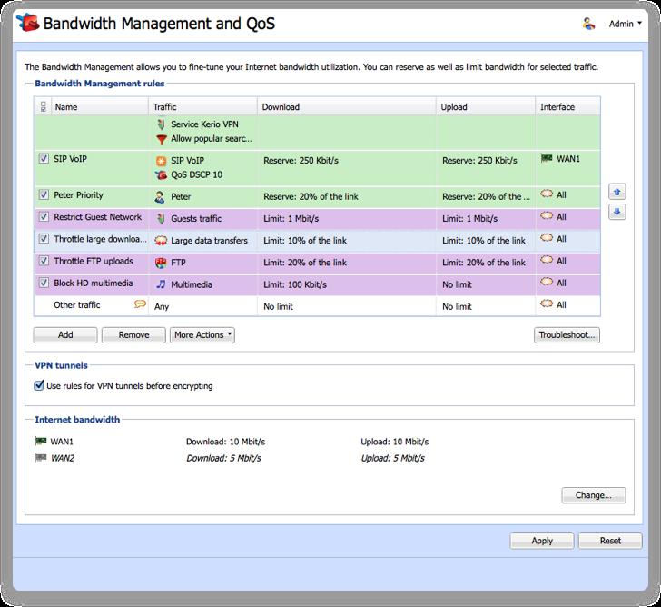 Manage your valuable bandwidth