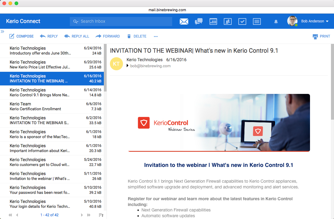 Kerio Connect email solution for small business